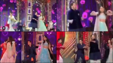 Video: Salman Khan Turns Background Dancer for Anant Ambani's Performance at Isha-Anand Piramal's Wedding Sangeet, Gets Trolled Hard